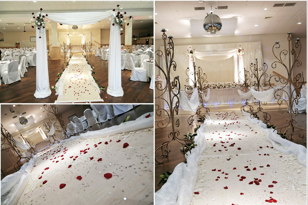 Wedding stage decor the platinum suite leicester event and wedding stage decor leicester junglespirit Image collections